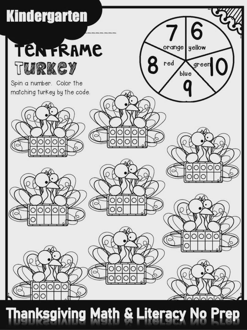 Thanksgiving Math Literacy Worksheets And Activities For Kindergarten Kindergarten Math Worksheets Free Kindergarten Math Worksheets Addition Math Worksheets