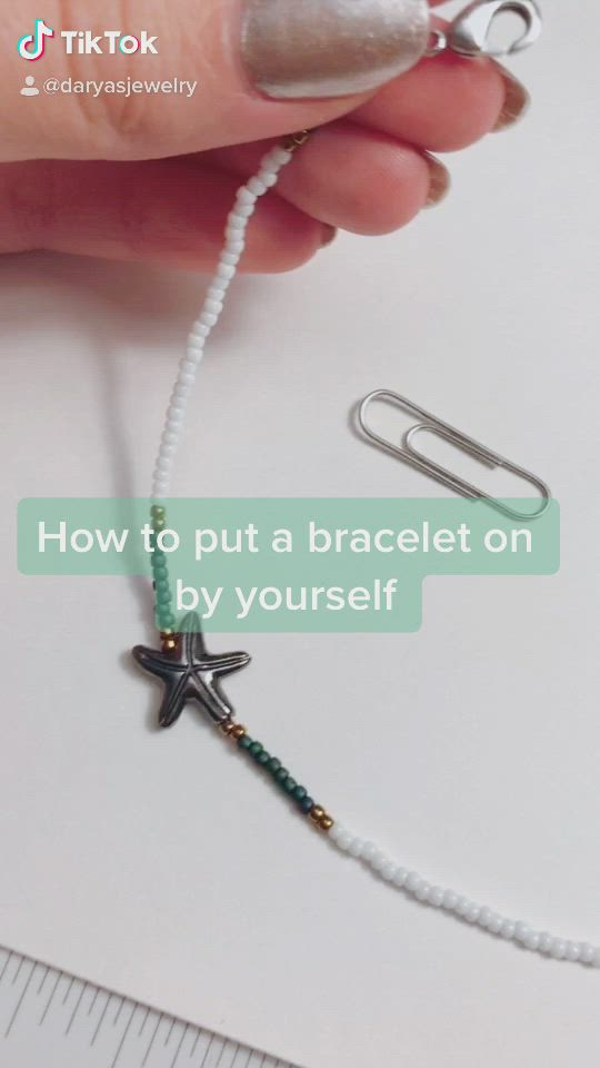 Life Hack On How To Put A Bracelet On By Yourself Video Beaded Jewelry Gifts For Sister Gifts For Friends