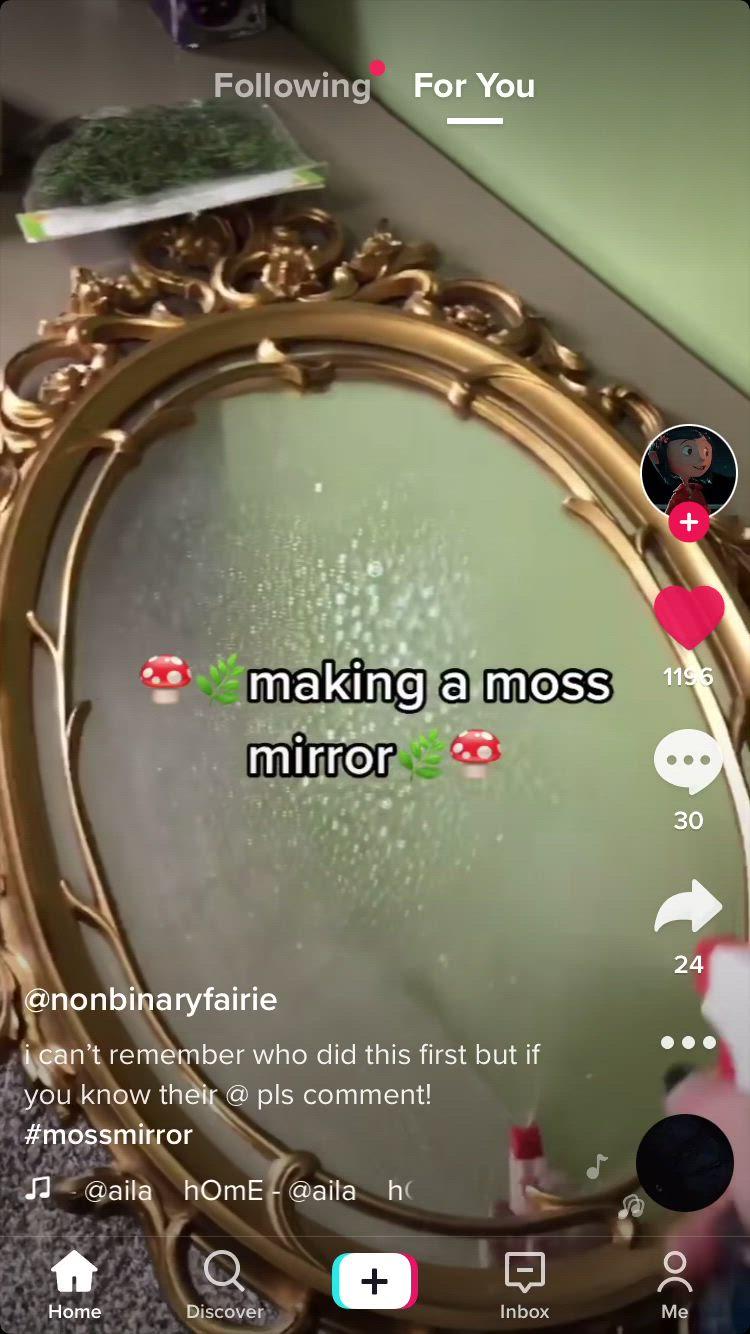 Diy Moss Mirror Video In 2021 Fairy Bedroom Diy Room Decor Fantasy Rooms