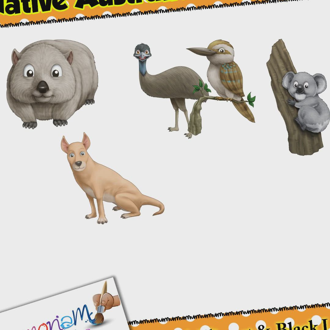 Australian Animals Clipart Kids Approved Video Video In 2020 Australian Animals Animal Clipart Clip Art
