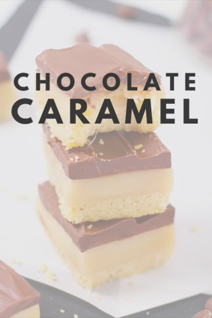 Chocolate Caramel Cookie Bars Video Recipe Video Desserts Dessert Recipes Favorite Cookie Recipe
