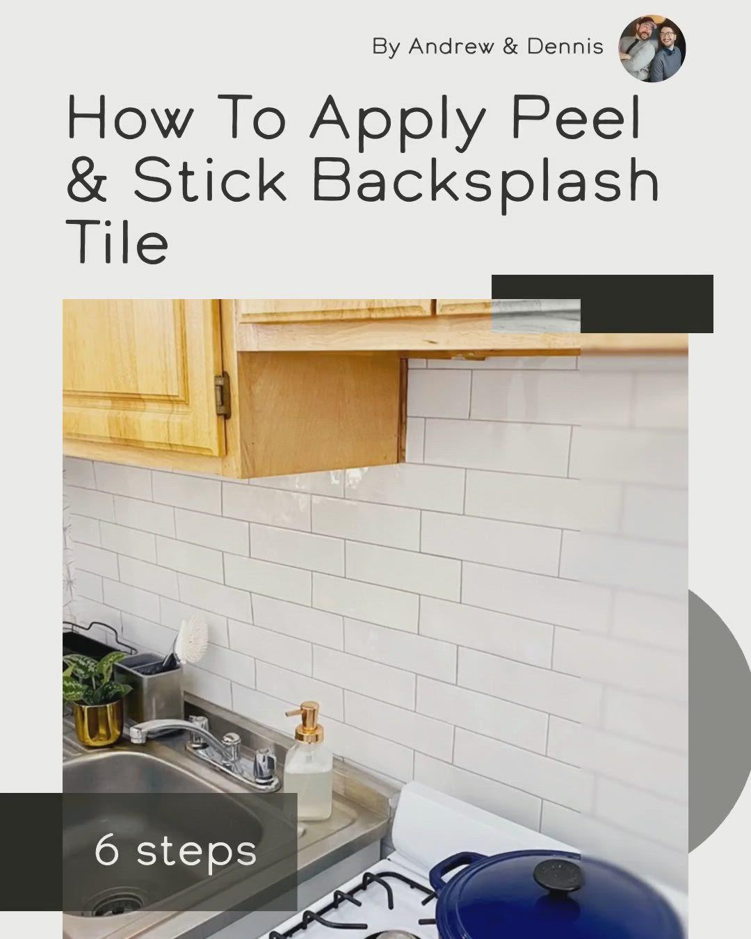 How To Apply Peel Stick Backsplash Tile Video Video Peel Stick Backsplash Diy Tile Backsplash Backsplash