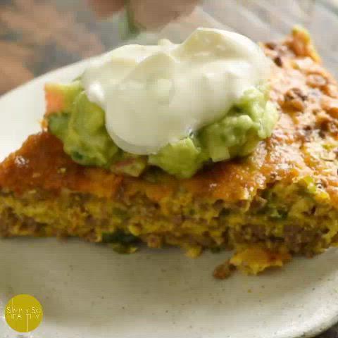 Low Carb Crustless Taco Pie Video Recipe Video Recipes No