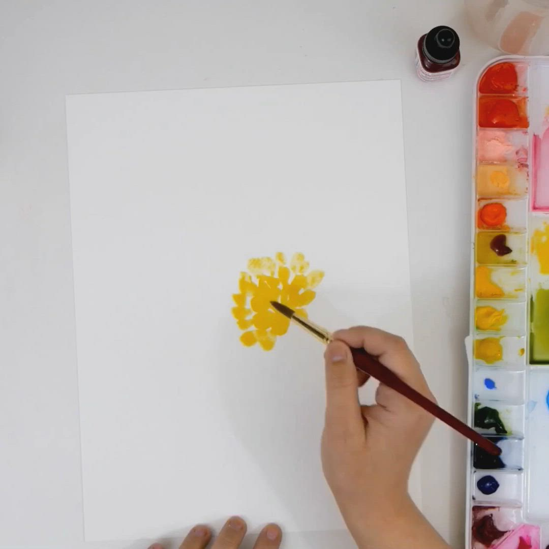 Learn How To Paint A Simple Loose Watercolor Floral Bouquet