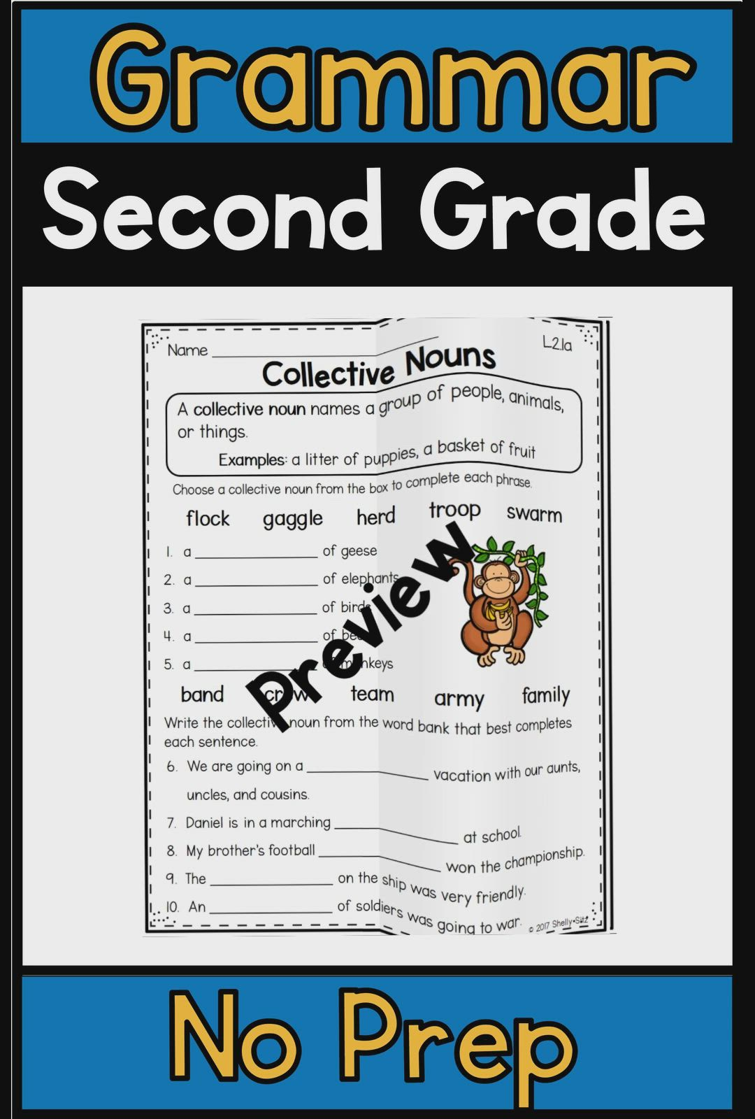 Predownload: Grammar Worksheets For Second Grade Distance Learning Video Video Grammar Skills Second Grade Grammar [ 1600 x 1080 Pixel ]
