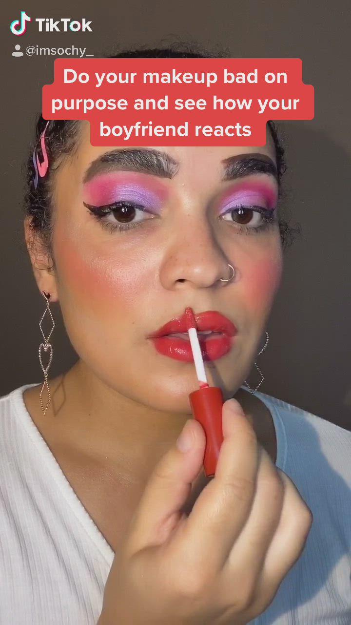 Bad Makeup Boyfriend Reaction Challenge Video Bad Makeup Makeup For Brown Eyes Eye Makeup Tutorial