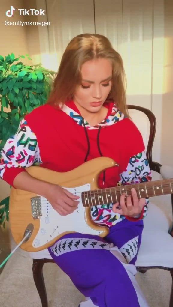 Electric Guitar Tiktok Emilymkrueger Video Guitar Lessons Songs Guitar Chords Beginner Guitar Girl