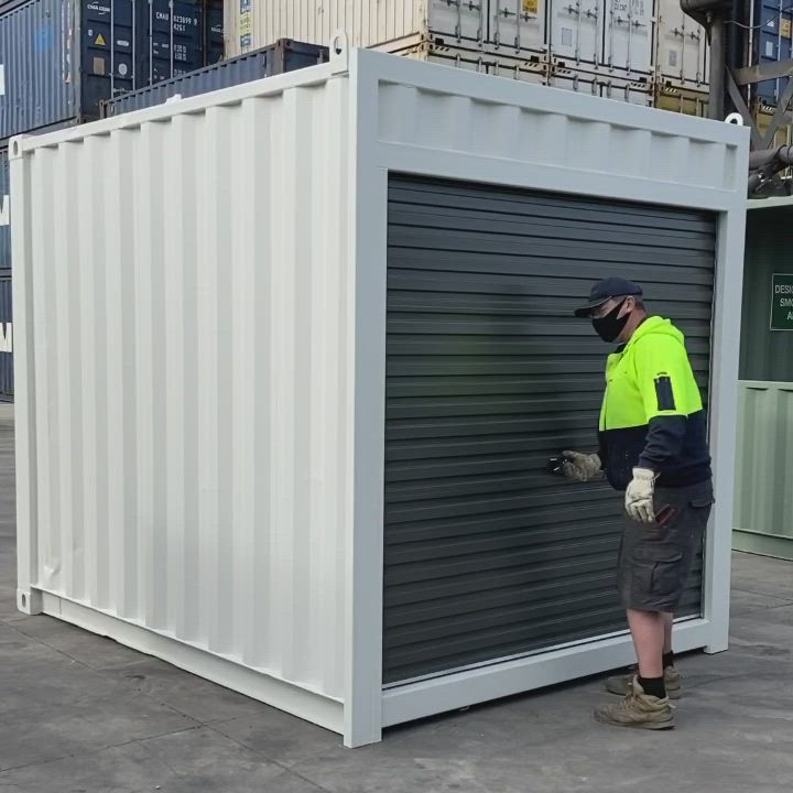 10ft Container With Roller Door Video In 2020 Roller Doors Container Shop Doors