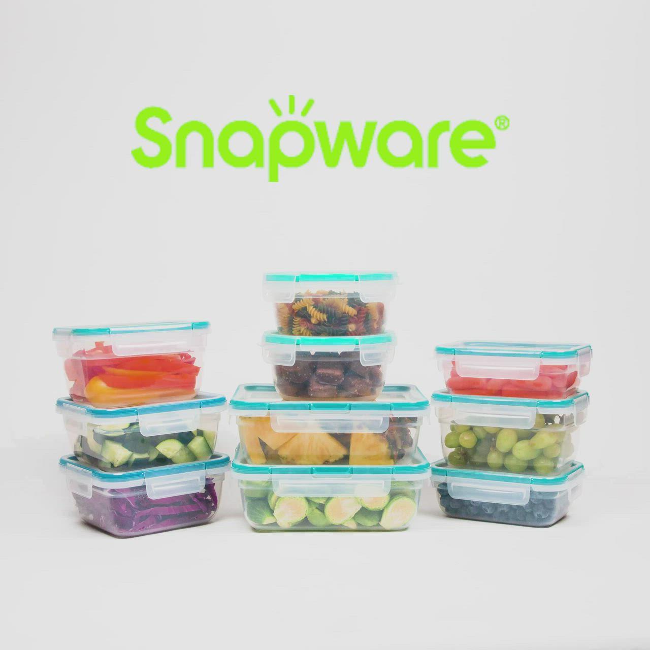 Snapware 38 Piece Plastic Food Storage Set Video Video In 2020 Food Storage Set Snapware Food Storage