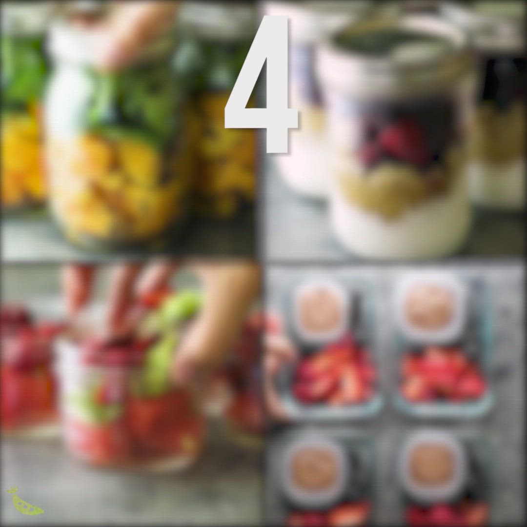 Four fruit filled meal prep snacks that you can prep ahead and enjoy through the week! Plus tips and tricks to get the most out of your weekly fruit prep.