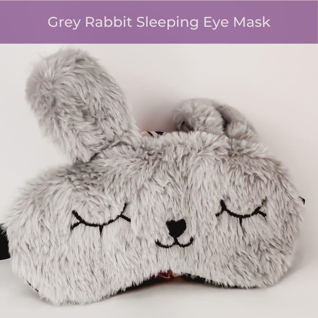 Cute animal Baby bunny pj mask Funny Sleep mask for mom to be Bunny Baby shower gift. Eye mask for Mom to be Sleeping Mask for kids