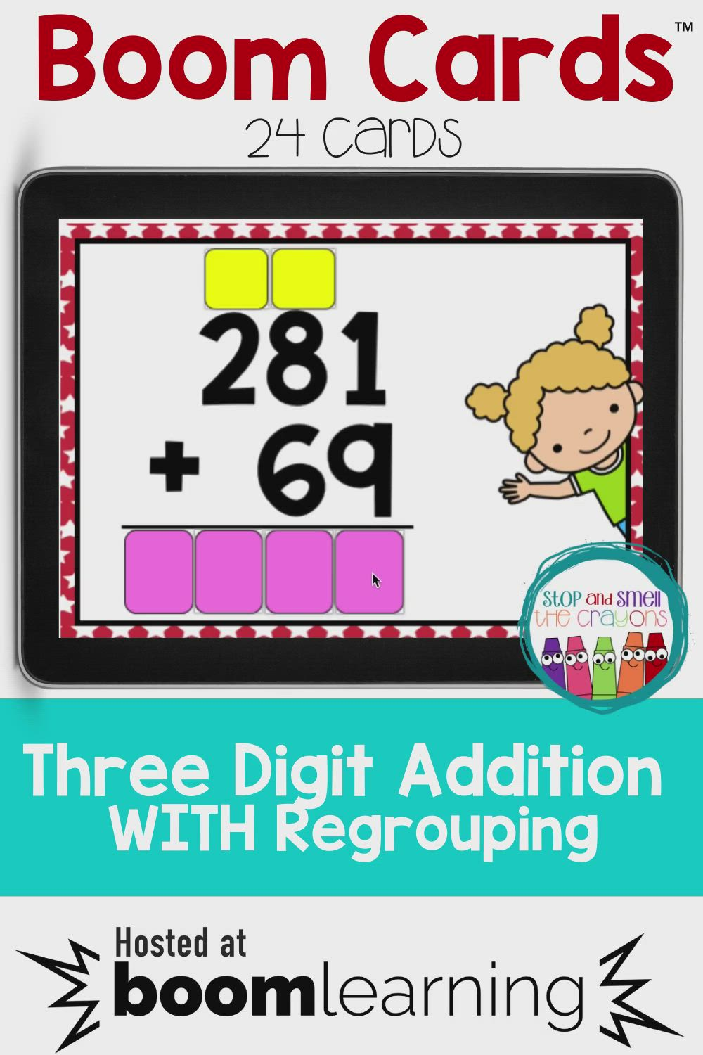 Boom Cards Three Digit Addition With Regrouping Video Video Boom Cards Three Digit Addition With Regrouping Three Digit Addition Addition with regrouping video grade