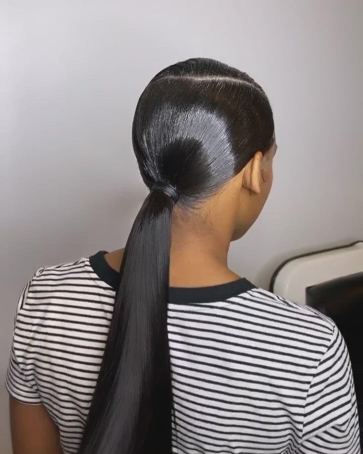 13++ Sleek side part ponytail trends
