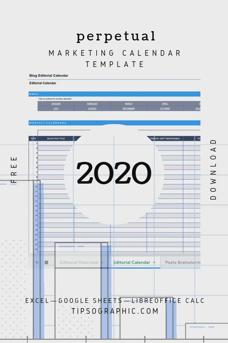 Linkedin Marketing Calendar Template For Excel Free Download