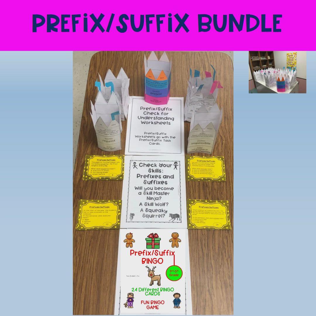 Prefix Suffix Bundle Video Teacher Resources Prefixes Resource Classroom [ 1080 x 1080 Pixel ]