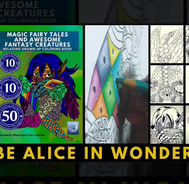 Pin On Free Printables Anti Stress Grown Up Coloring Book Magic Fairy Tales And Awesome Fantasy Creatures Diy Art Therapy