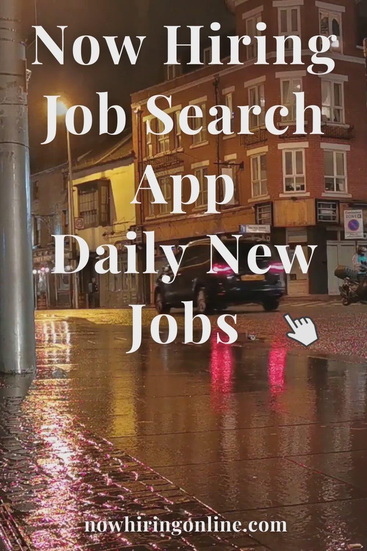 Pin On Now Hiring Job Search App