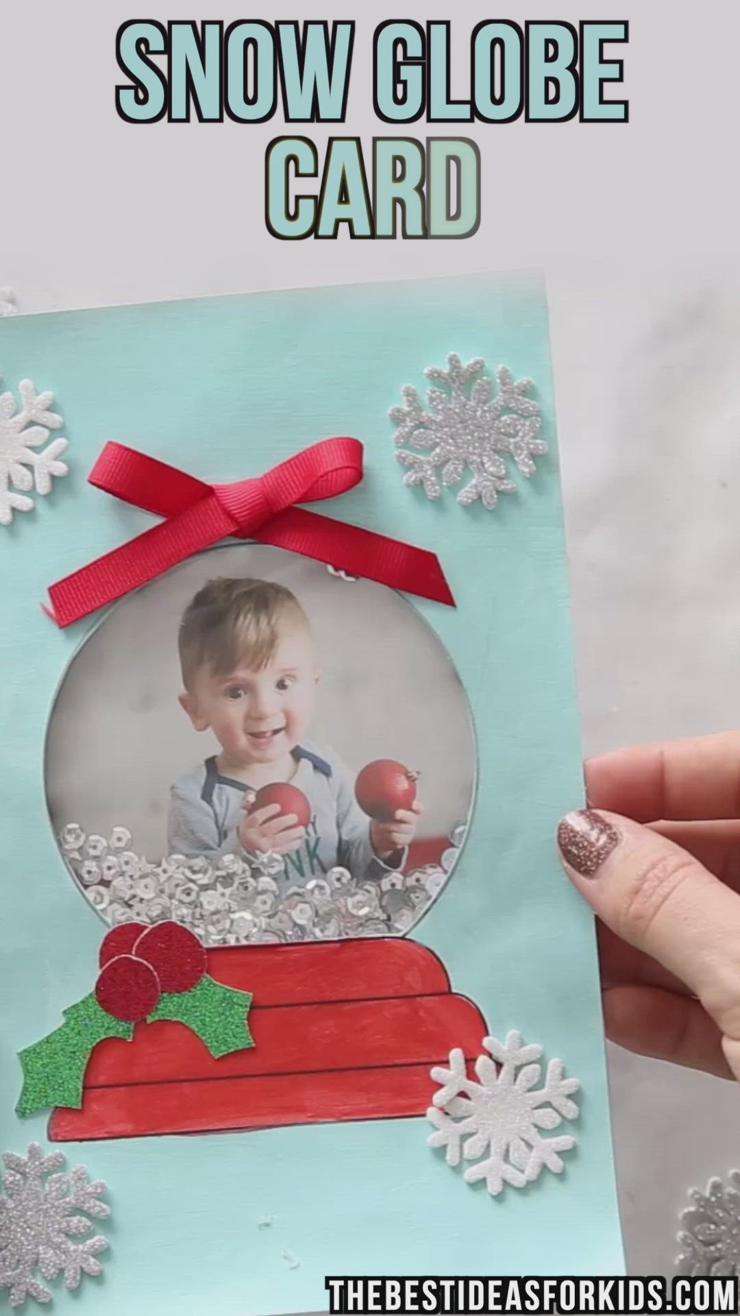 Snow Globe Template Card The Best Ideas For Kids Video Video Diy Christmas Cards Christmas Crafts For Kids Christmas Crafts