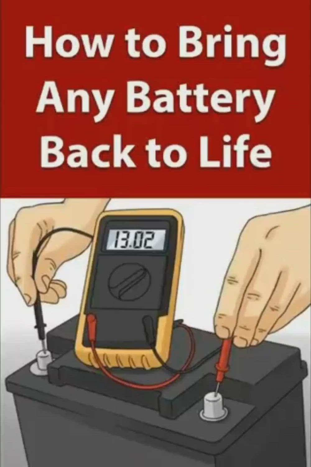 How To Restore A Battery Reconditioning Nicad Batteries Battery Reconditioning Business Fix It Video Batteries Diy Repair Batteries