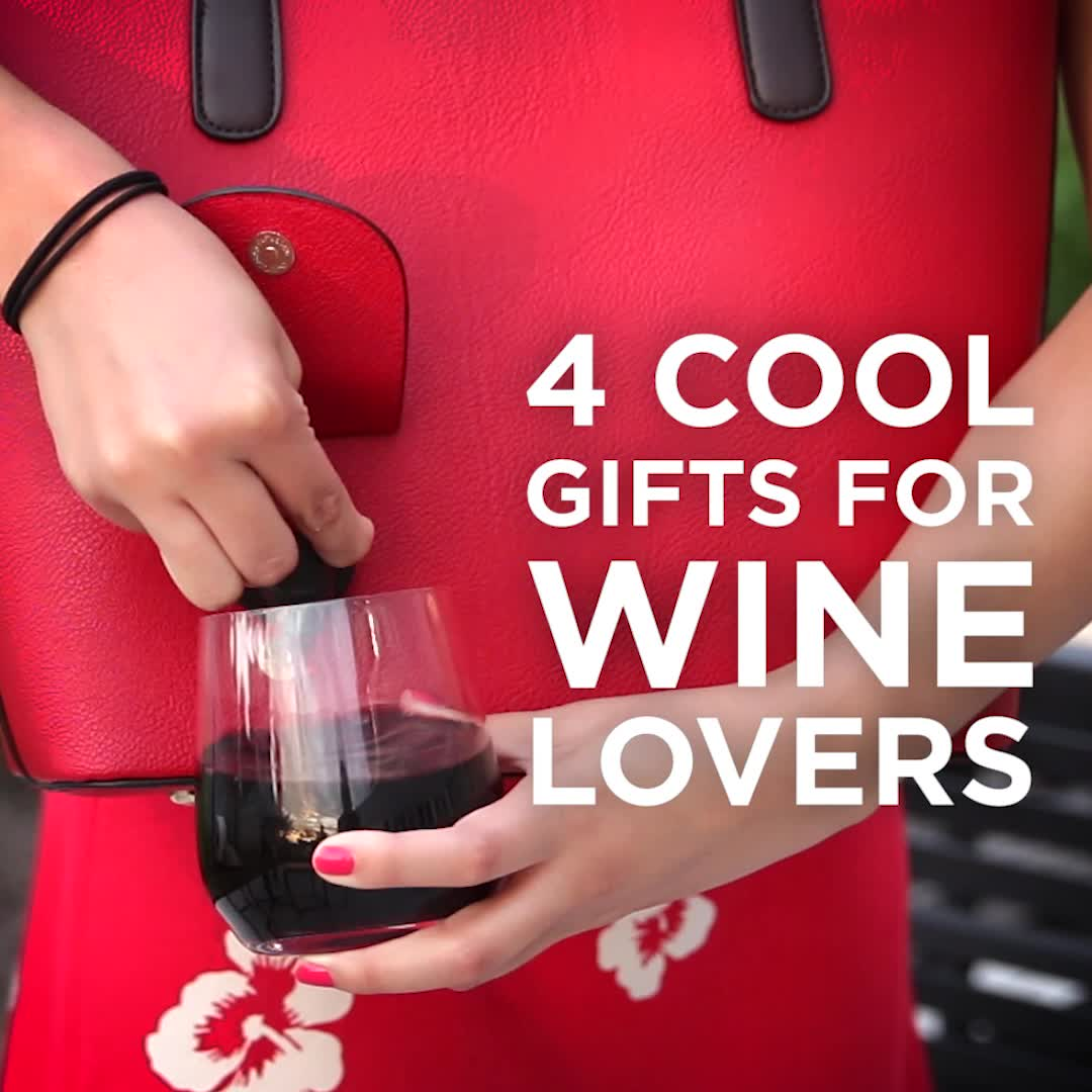 Wine Lovers Will Want To Buy All Four Of These Products Video Video Gifts For Wine Lovers Wine Lovers Wine Purse