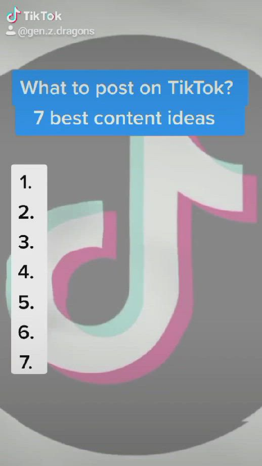 What To Post On Tiktok 7 Best Content Ideas Video Content Marketing Social Media Social Network
