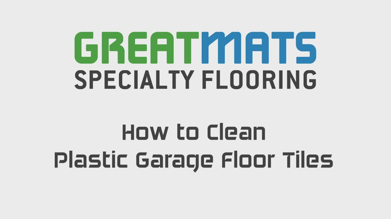 How To Clean Snap Together Plastic Garage Flooring Tiles In 3 Steps Video Video In 2020 Flooring Tile Floor Rubber Tiles
