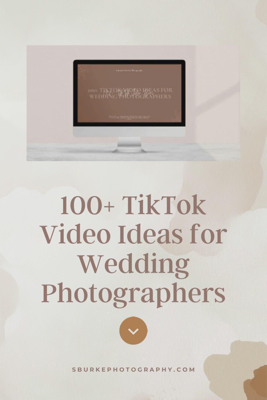 100 Tiktok Content Ideas For Wedding Photographers Video Video In 2021 Photography Business Photography Education Coding For Kids