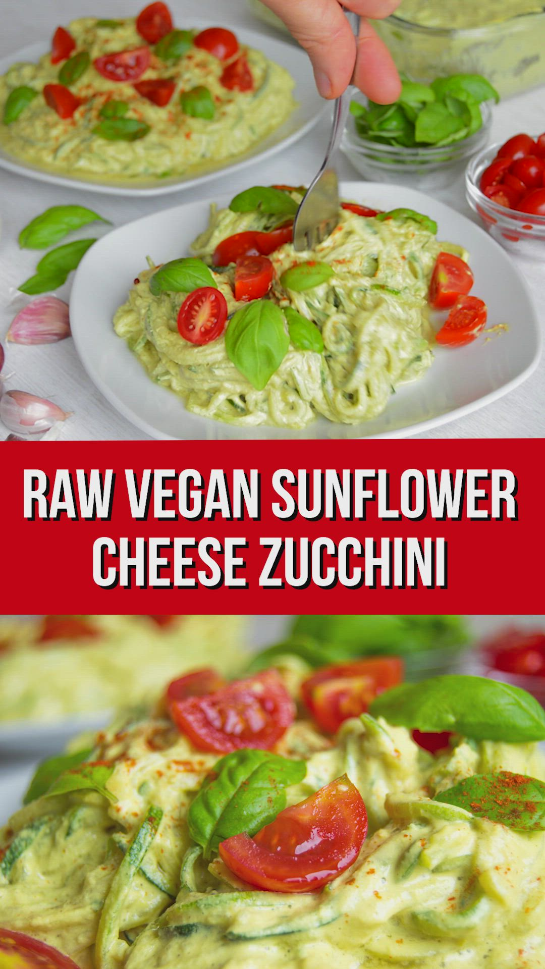 Sunflower Cheese Raw Courgetti Video Recipe Video Raw Food Diet Raw Vegan Recipes Raw Food Recipes