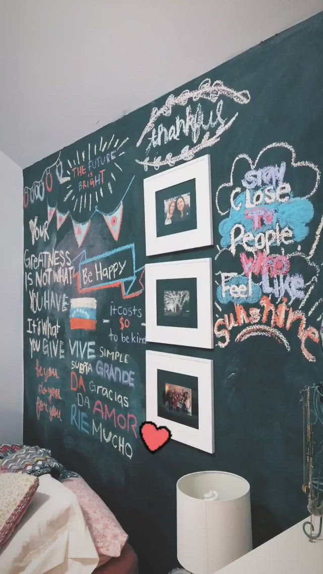 Pin By Sofia On Chalk Board Ideas Video Chalkboard Wall