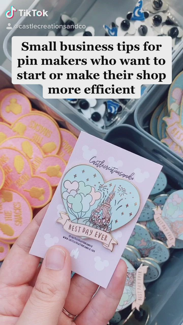 Some Small Business Tips For Pin Makers Video Small Business Packaging Business Design Small Business Marketing