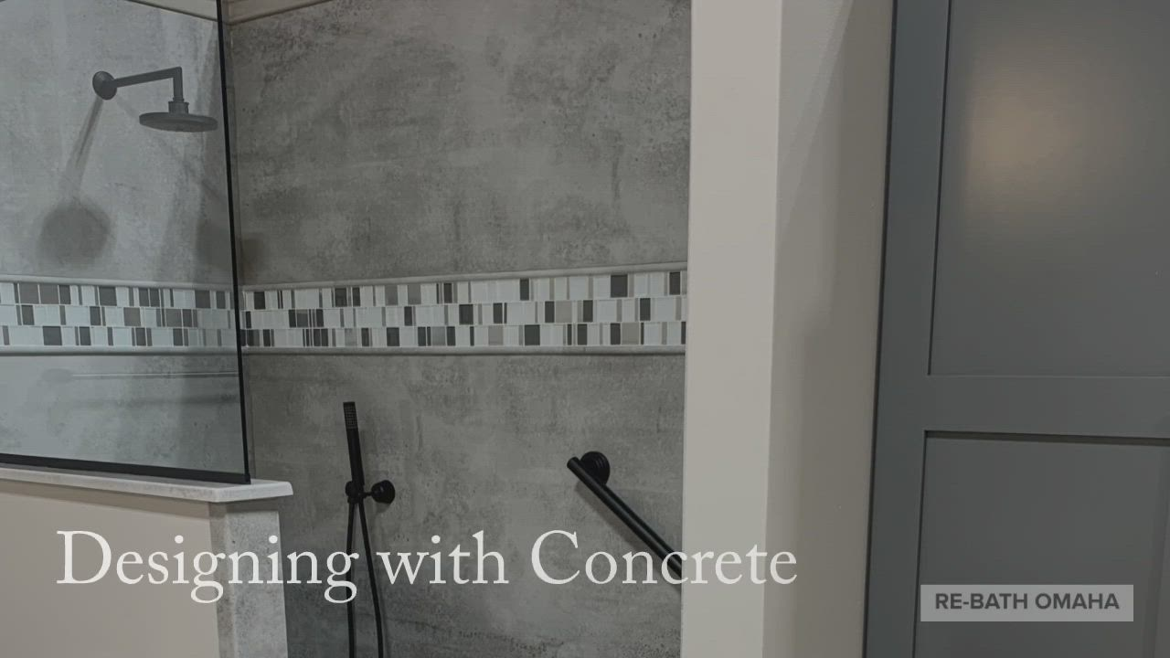 Designing With Concrete Video Bathrooms Remodel Make Design Shower Wall [ 720 x 1280 Pixel ]