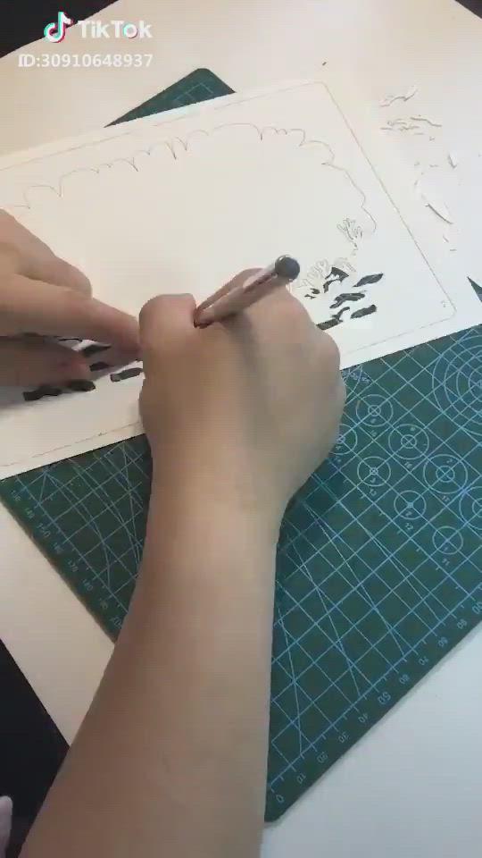 Diy Paper Frame Paper Art Craft Artwork Tutorial Video Paper Art Craft Paper Art Paper Carving