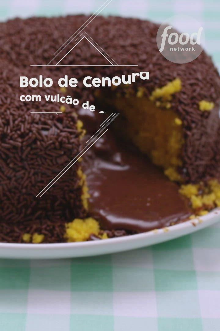 Bolo De Cenoura Vulcao De Chocolate Video Receita Video Com