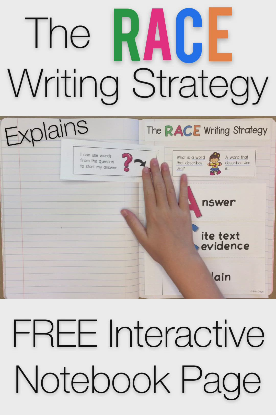 Race Writing Strategy Interactive Notebook Page Bookmark Video Video Races Writing Strategy Interactive Notebooks Interactive Writing [ 1620 x 1080 Pixel ]