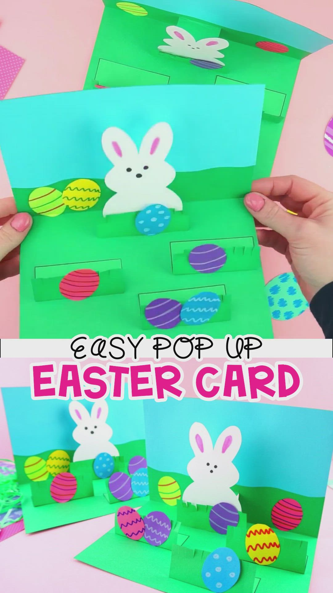 How To Make A Pop Up Easter Card Easy Easter Craft For Kids Video Video Easter Cards Handmade Easter Kids Easy Easter Crafts